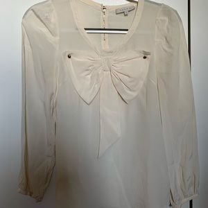Sandro white silk blouse size 1